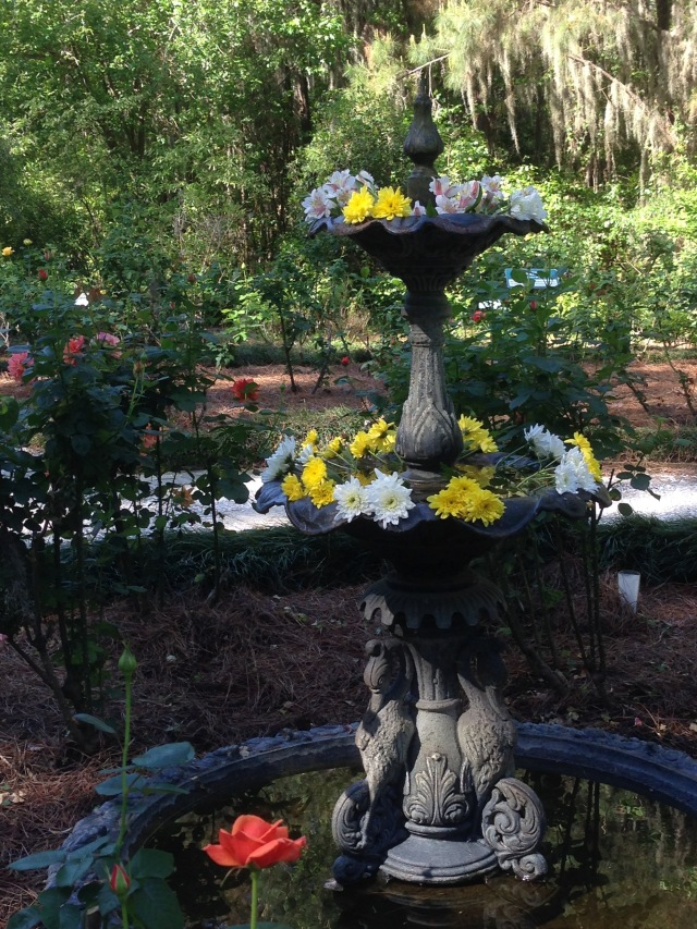 Fountain at Coastal Georgia Botanic Garden